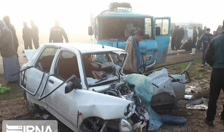 چهار کشته و مجروح حاصل تصادف در جاده دزفول - چغامیش
