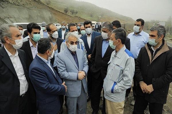 خبرنگاران معاون رییس جمهوری و وزیر راه از آزاد راه تهران - شمال بازدید کردند