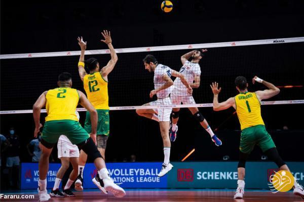 ساعت بازی والیبال ایران - برزیل