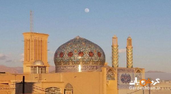 تصویر ماه بر فراز شهر ثبت جهانی یزد، عکس متفاوتی که سفیر آلمان برای تبریک عید فطر منتشر کرد