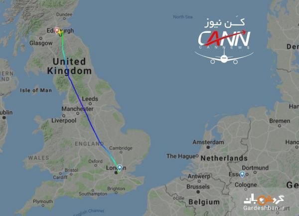هواپیمای راهی آلمان اشتباها در اسکاتلند فرود آمد!