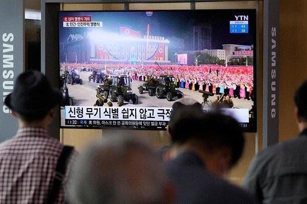 رژه نظامی کره شمالی به مناسبت سالگرد تاسیس این کشور
